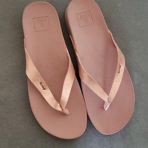 Metallic leather REEF sandals